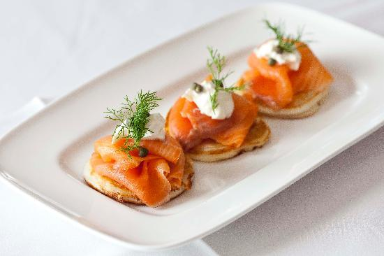 Smoked Salmon Blini From The Sunday Brunch Menu Picture Of The