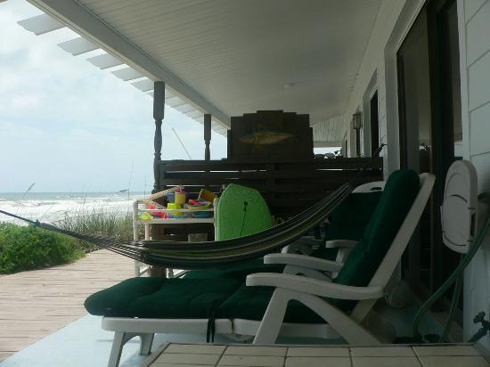 Suites on the Beach: Our porch...beach toys,hammock