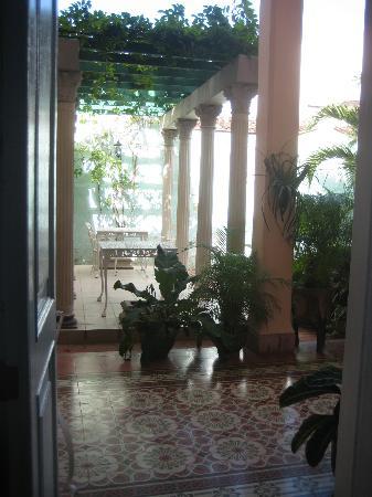 Hostal Autentica Pergola: this was the view from my bedroom door