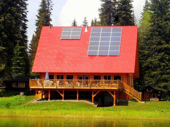 Meadow Lake Fishing Camp : Lodge viewed from Meadow Lake