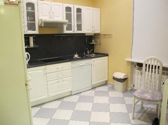 KievInn Apartment Complex : Kitchen is large and fully equiped for a long stay