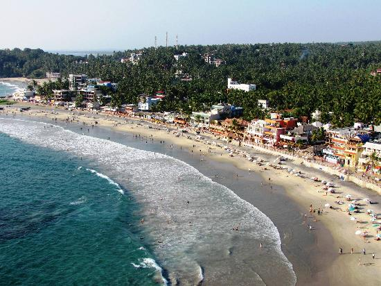 Vizhinjam Lighthouse: View of Kovalam Beach from the lighthouse