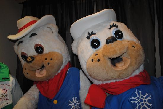 Canmore Museum & Geoscience Centre: Meet Hidy and Howdy, the 1988 Calgary Olympic Mascots! (One of few pairs left)
