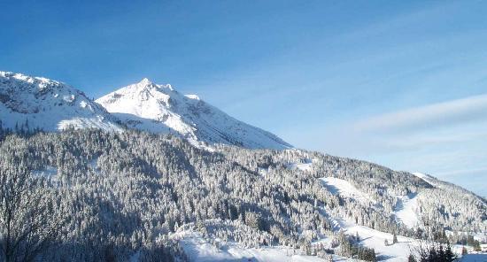 Sunneschlössli : unser Skigebiet am Hang gegenüber
