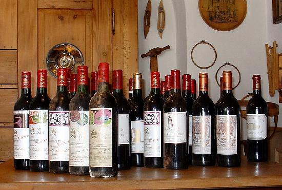 Sunneschlössli Tannheimer Tal: eine unserer Weinproben