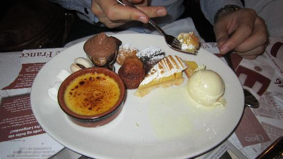 Brasserie France: Fresh from the dessert trolley