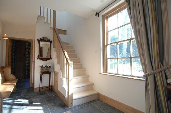 The Coach House: Hall with local stone staircase