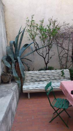 La Pension Edelweiss: La terraza de la habitaición