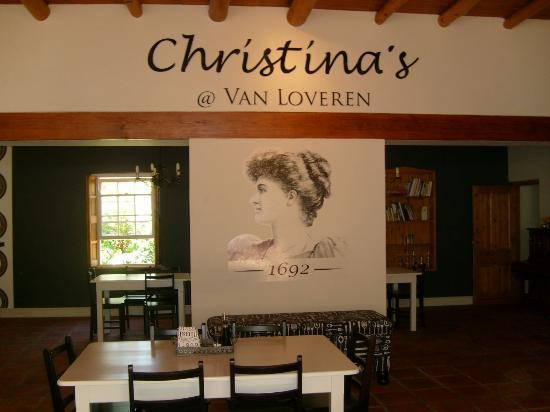 Christina's Bistro at Van Loveren: inside the restaurant