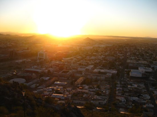 Hermosillo, Mexico: View from the top at sunset