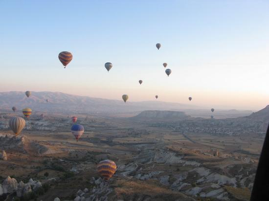 Aydinli Cave Hotel: Balloon ride over Goreme