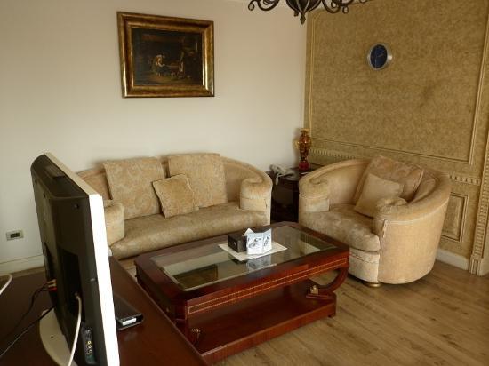 Four Seasons Place: Living Room (Sofa View)