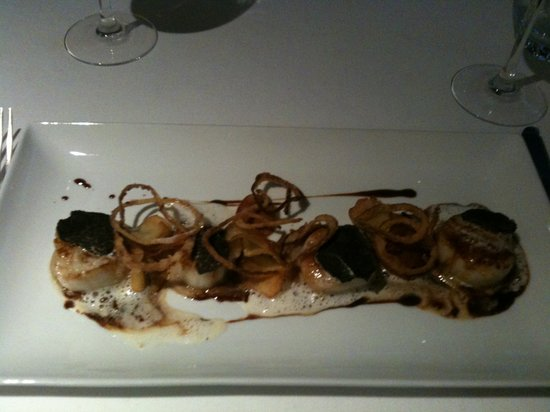 Restaurant Mandarine : Saint Jacques sur puree de marron