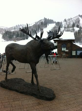 Snowbasin Resort: Greeted by the Moose at Snow Basin