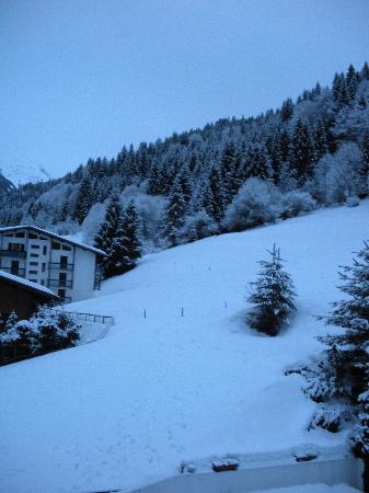 Chalet Hotel StarLight : The little run from the B Blue run