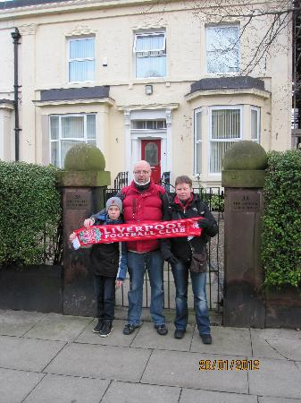 Us in front of The Anfield B&B