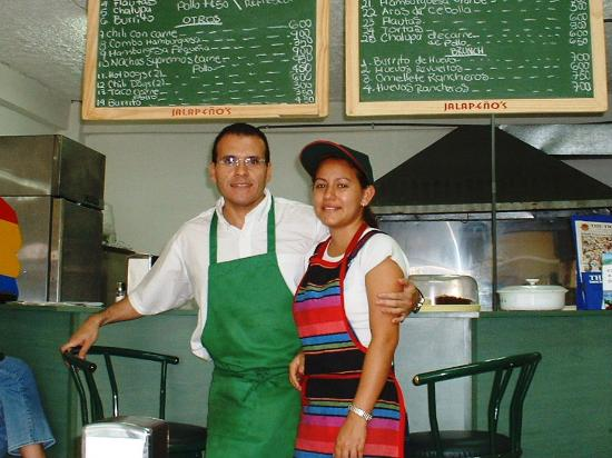 Jalapenos Central: Norm and Wife Isabel shortly after opening in 2003