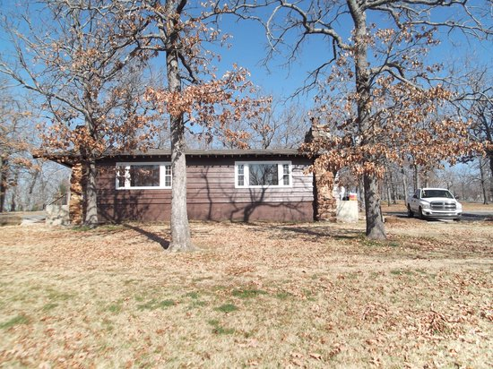 Vian, OK: view of the cabin