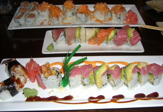 Fresh sushi rolls picture of fulin 39 s asian cuisine for 77 chinese cuisine