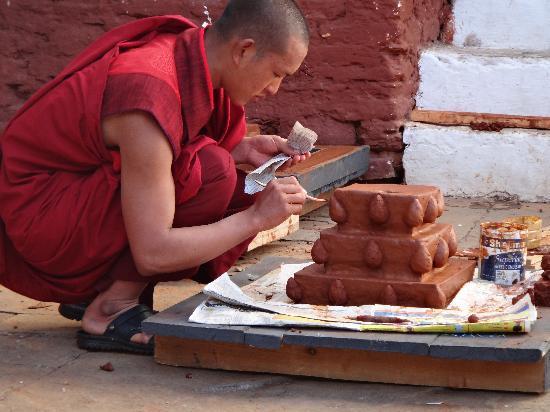 Monk at Punakha Dzong