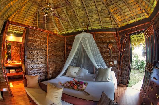 Tahaa, Fransız Polinezyası: FARE PEA ITI bungalow jardin