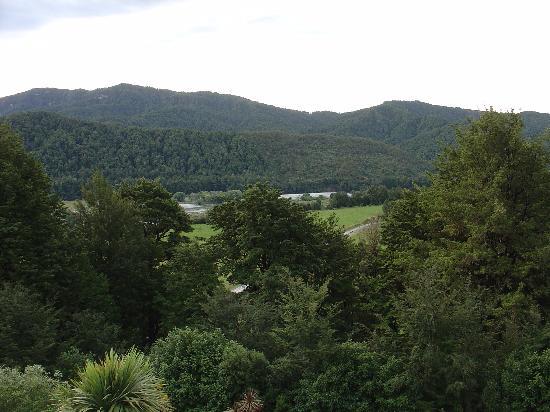 Korimako Lodge: La rivière vue de la chambre