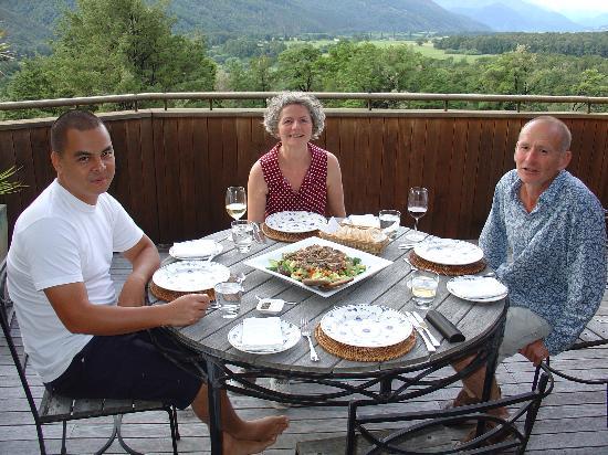 Korimako Lodge: Dîner avec Steve et Wendy, nos hôtes