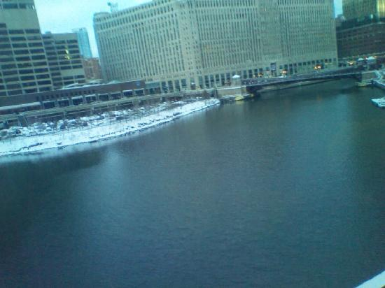 "Merchandise Mart Building. Photo taken from  the ""L"" train."