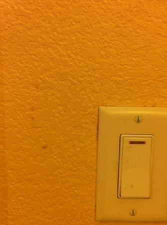 La Quinta Inn & Suites San Antonio Medical Center: filthy light fixture and wall - room 811