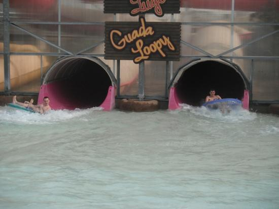 Schlitterbahn Galveston Island Waterpark: coming out of the tubes!