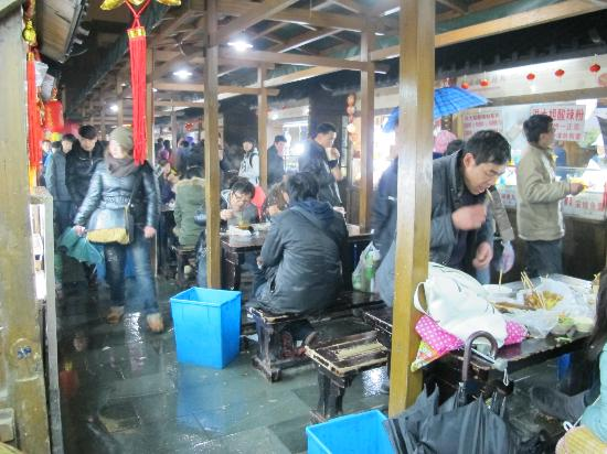 Hangzhou Snack Street: NIGHT VIEW OF MARKET