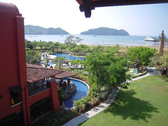 Los Suenos Marriott Ocean & Golf Resort: Bar patio on 2nd floor left.  Eat breakfast on patio below it