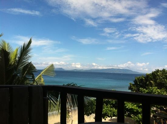 Tamaraw Beach Resort: view from public corridor outside our bedroom