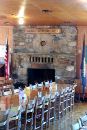 Graves Mountain Lodge: One of Many Fireplaces