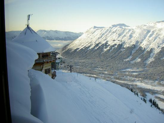 Hotel Alyeska View From Seven Glaciers Restaurant