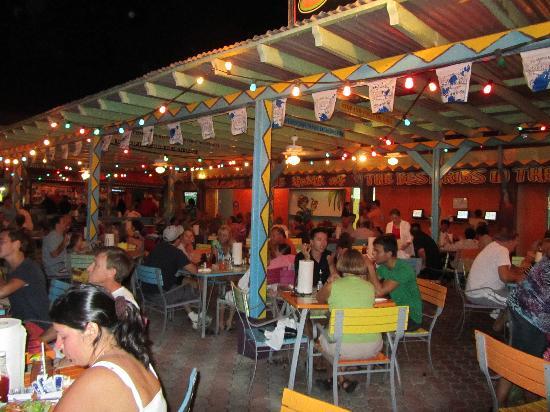 The evening crowd at Smokey Joe's