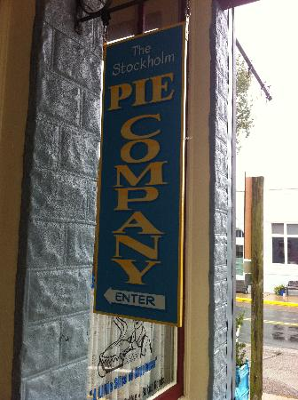 Stockholm Pie & General Store: Sign