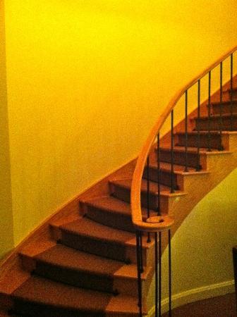 JW Marriott Houston: stair case to upstairs bedroom