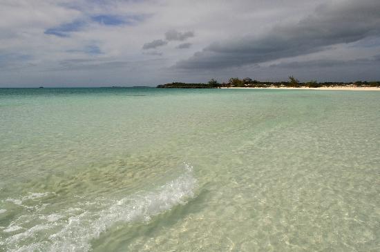 Sapodilla Bay: Blue waters of the bay