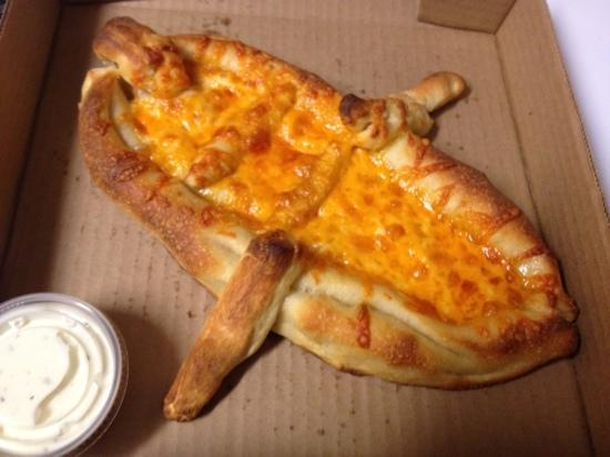 "Enderby, Canada: Custom ""Boat"" Cheese Pizza"