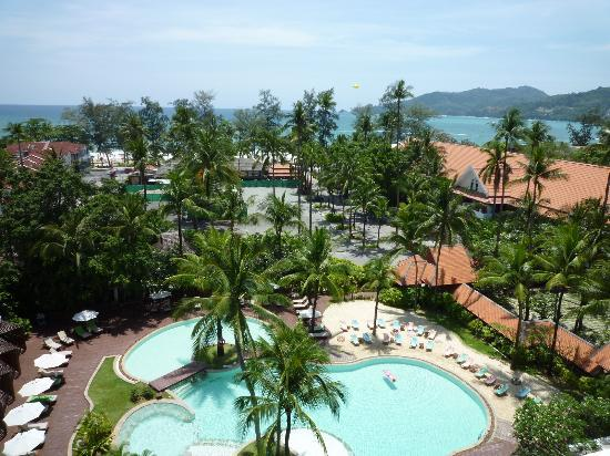 Patong Beach Hotel: ベランダからの眺望