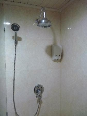 Pinnacle Lumpinee Park Hotel: Rainshower in the bathroom - but careful, there are no curtains!