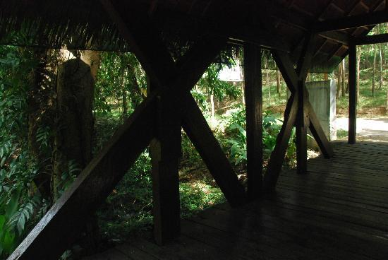 Busuanga Island Paradise: A mini bridge connecting reception area and the grounds where the rest of the resort is
