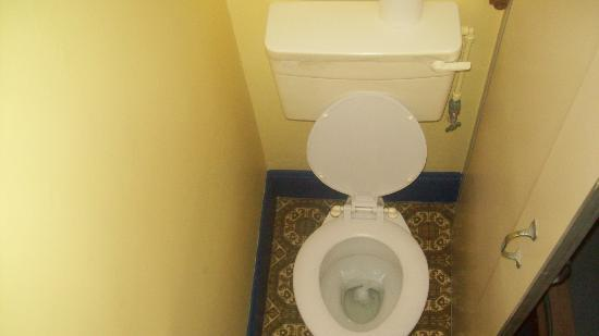 Mount Joy Lodge: The en suite bathroom from above as the box masquerading as a bathroom had no roof