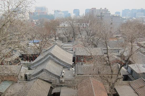 7 Days Inn Beijing Dongsi : View of Hutong roof tops from my window