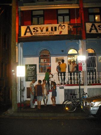 Asylum Sydney: Outside the hostel