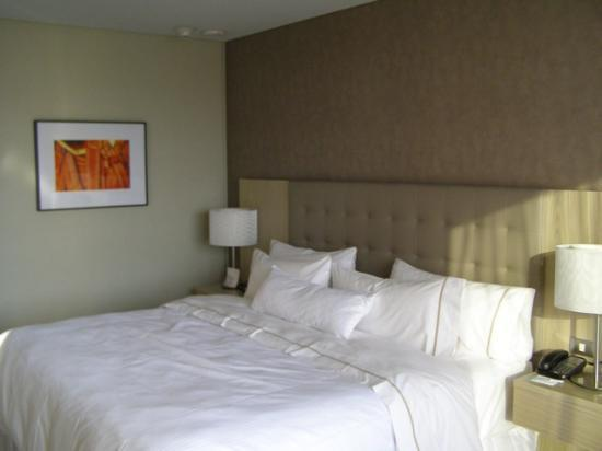 The Westin Guadalajara: king-sized bed from window