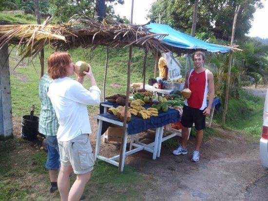 Pepper's Cottage : Produce stand run by Native Carib Indians.