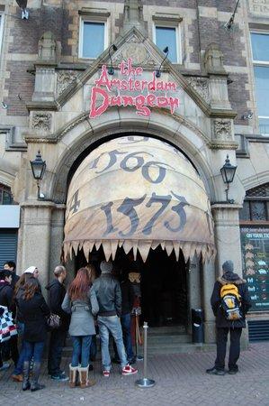 The Amsterdam Dungeon : Der einladende Eingang
