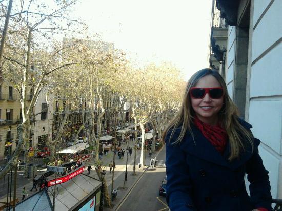 Hotel Cuatro Naciones: a great view from Las Ramblas